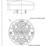 mein sparschwein led r ckleuchten rund 142mm flache. Black Bedroom Furniture Sets. Home Design Ideas
